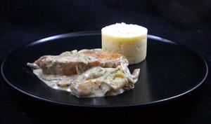 Médaillons de porc ibérique aux pleurotes