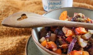Compotée de légumes d'hiver au yaourt grec
