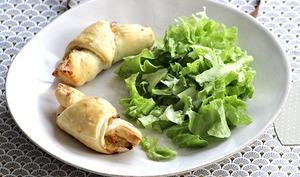 Maxi croissants aux poireaux et saumon fumé