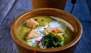 Velouté de brocolis au poulet