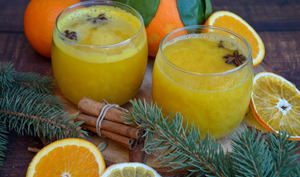 Jus d'orange chaud aux épices