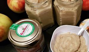 Beurre de pommes, coco et pistaches