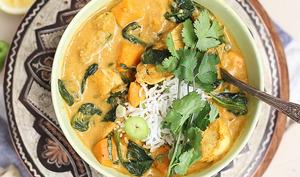 Curry au poulet et patates douces