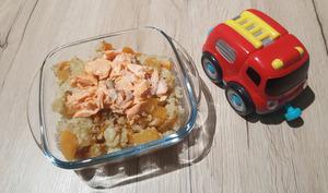 Petit pot chou fleur, rutabaga, carotte, cumin et saumon