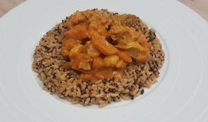 Curry végétarien au chou-fleur et brocoli