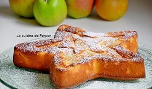 Gâteau aux pommes au lait concentré sucré et combava
