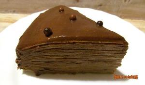 Gâteau de crêpes à la crème chocolat banane
