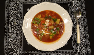Soupe goulash aux champignons