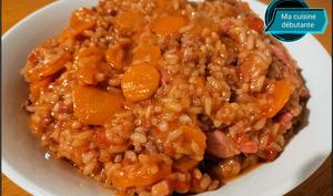 Risotto et sa viande hachée avec cookeasy