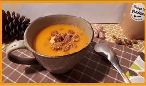 Velouté de carottes, gingembre et lait de coco