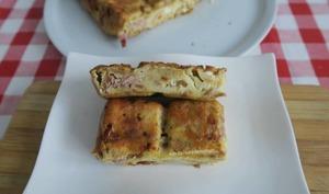 Pudding ou pain d'chien au jambon, Reblochon et chèvre frais