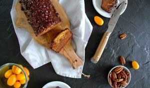 Gâteau orange chocolat, glaçage rocher