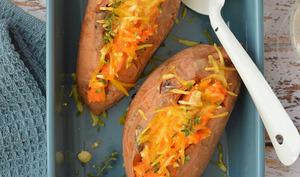 Patates douces farcies et gratinées