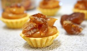 Mini tellines à la crème de marron, crème pâtissière, au miel et à l'amlou