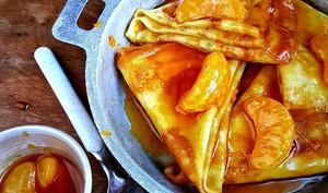 Crêpes à la mandarine façon Suzette sans alcool