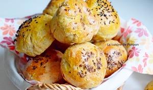 Petits pains au pesto d'olives et effiloché de porc