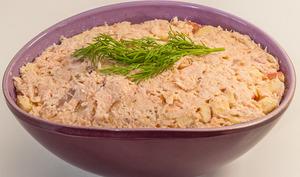 Rillettes de saumon à la pomme et fève tonka