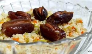 Couscous de légumes aux dattes orangées