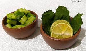 Jus de cactus, mélisse et citron