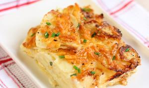 Gratin de pommes de terre au cheddar