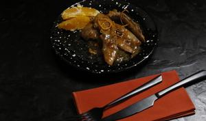 Aiguillettes de canard orange échalote
