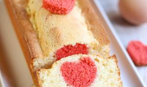 Cake coeur surprise à l'intérieur