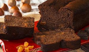 Cake chocolat banane, raisins au rhum blanc