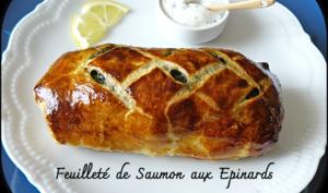 Feuilleté au saumon et aux épinards, cervelle du canut