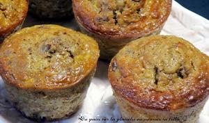 Muffins pommes, noix de pécan et sirop d'érable