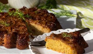 Gâteau renversé au fenouil