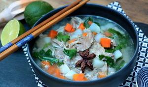 Soupe vietnamienne au jambon façon pot-au-feu