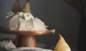 Pavlova poire et gingembre