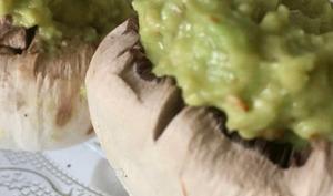 Champignons farçis au guacamole