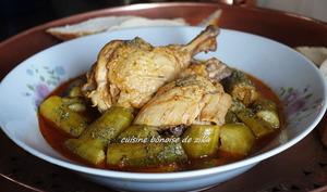 Tajine courgettes poulet