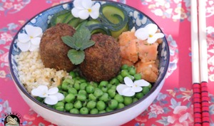 Buddha bowl boulgour légumes aux falafels