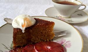 Gâteau à l'orange et à la polenta