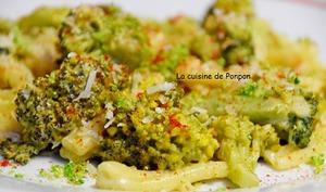One pot pasta aux pâtes et brocoli, végétarien