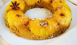 Gâteau à l'ananas sans gluten et sans lactose