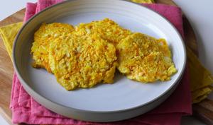 Galettes de chou-fleur carotte au fromage