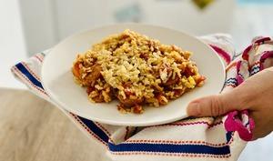 Riz aux carottes façon currywurst