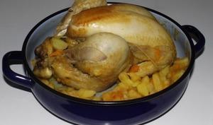 Poulet rôti aux deux pommes de terre et épices douces