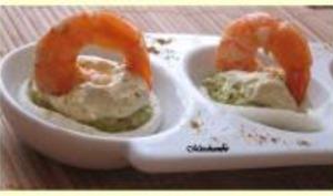 Crevettes à la Mousse de Courgettes, Chantilly au Curry