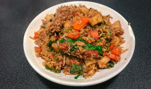 Spicy Tofu Fried Rice