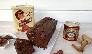 Cake au chocolat, épices et noix de Pecan