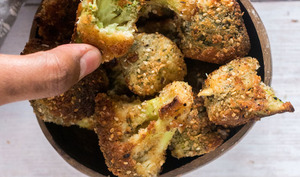 Croquettes de brocolis panés à la noix de coco