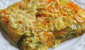 Gratin léger poireaux & carottes