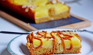 Tarte aux amandes, ricotta et ananas