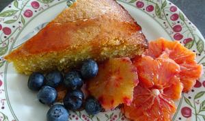 Gateau aux amandes, polenta et oranges sanguines