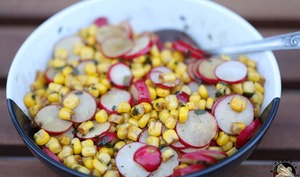 Salade de maïs fraîche