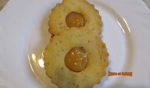 Biscuits Linzer au pavot et crème de citron